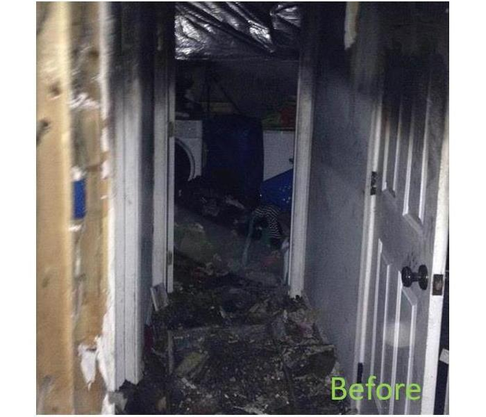 Fire Damage Restoration in an Anaheim Apartment Before