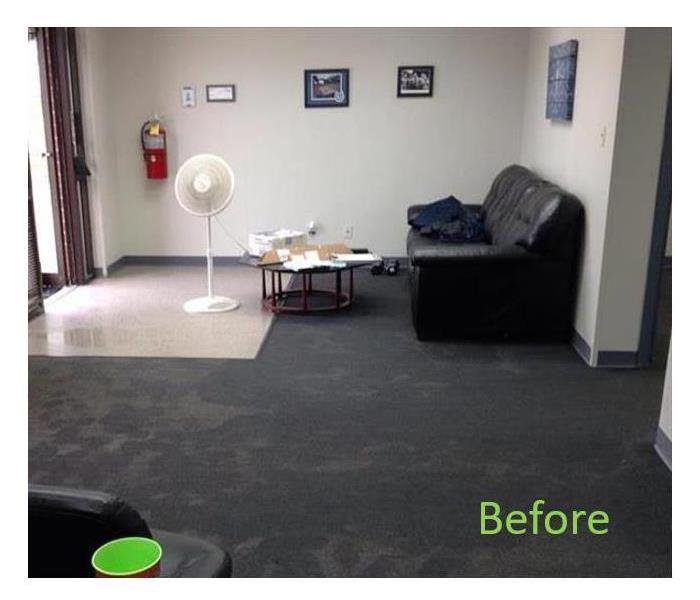 Rain Soaks Front Lobby - SERVPRO Yorba Linda/ Brea Cleans Up! Before