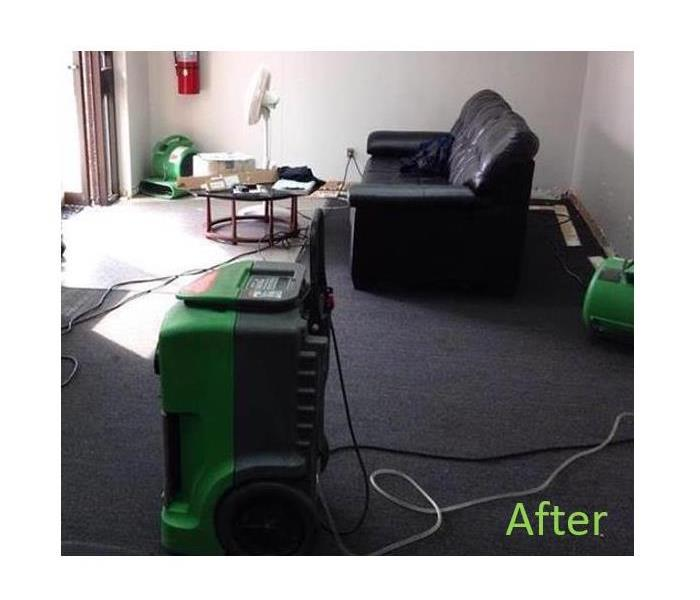 Rain Soaks Front Lobby - SERVPRO Yorba Linda/ Brea Cleans Up! After