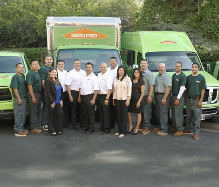 Servpro Team Members A Water Fire Mold Remediation And Removal Company In Yorba